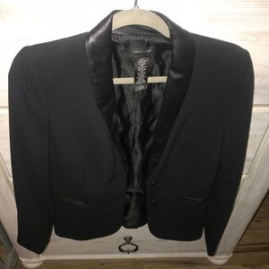 Jackets & Blazers - Lord and Taylor blazer with leather lapel